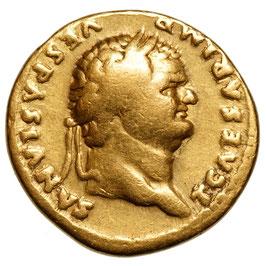 Titus Caesar (69-79) AV Aureus, Aeternitas, Rare!