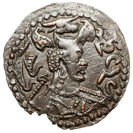 """Hephthaliten, """"Weisse Hunnen"""" (""""NAPKI MALKA"""" um 475/576) AE Drachme"""