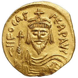 Phocas (602-610) AV Solidus, Konstantinopel