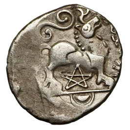 Gallia, REMI (~50-30 BCE) Fabelwesen, Pentagramm
