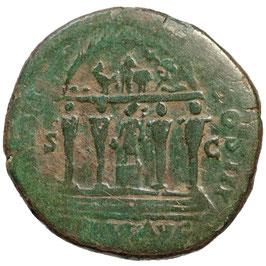 """Marcus Aurelius (161-180) Merkurtempel, """"REGENWUNDER"""""""