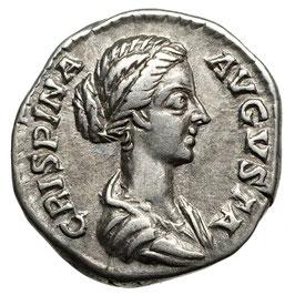 Crispina (178-192) AR Denar, Handschlag