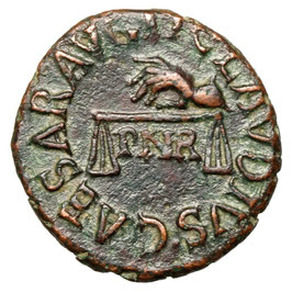 Claudius (41-51) Quadrans, Waage