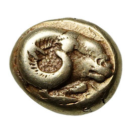 Lesbos, Mytilene (~521-478 BCE) EL Hekte, Widder