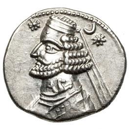 Partherreich, Orodes II. (57-38) AR Drachme. Hippocamp