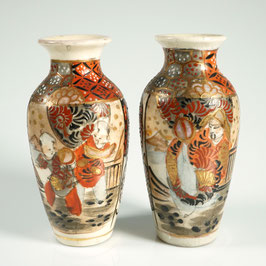 JAPAN, Zwei Satsuma Vasen