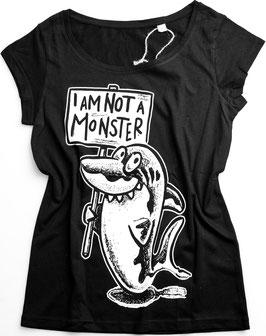 T-Shirt Lady SHARK   not a Monster   Haie sind wichtig für unser Ökosystem