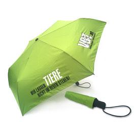 Regenschirm Wir lassen Tiere nicht im Regen stehen