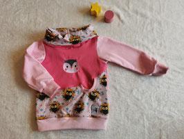 Schoodie Huhu Eule pink - 86