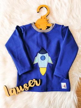 Pullover Rakete royalblau - Größe 92
