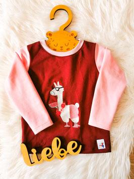 Pullover Lama weinrot/rosa - Größe 92