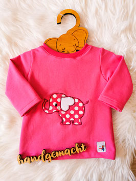 Pullover Herzohrfant pink - Größe 80