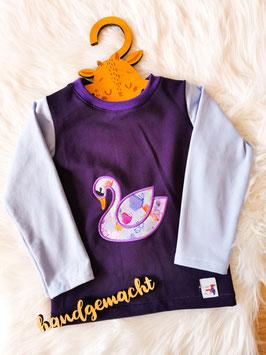 Pullover Schwan lila - Größe 98