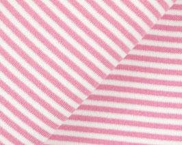 Streifen Bündchen rosa
