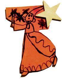 OWO - Magnet étoile bois - aimant 6.2kg