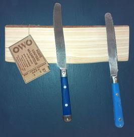 OWO - Porte 4 couteaux mural magnétique en bois de Cyprès- PC4 120403