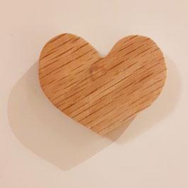 OWO - Magnet coeur bois en chêne massif - aimant 1.8kg