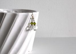 Swarovski Ohrringe Weiß/Grün