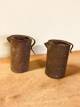 古い銅のちろり(2コセット)