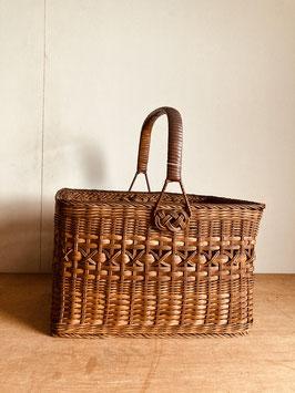 昭和の古い籠バッグ