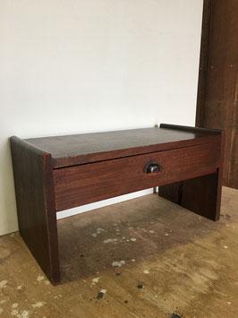 杉の引き出し付き小机