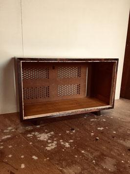 シャープ真空管ラジオの木箱