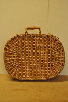 レトロな籐のバスケット(楕円型)