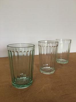 気泡ガラスのレトロなアンカーコップ【3個セット】