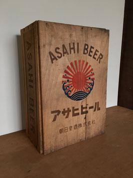 アサヒビールの古い木箱