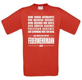 "Classics Shirt ""Feuerwehrmann"""