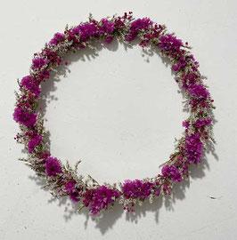 #36 Trockenblumenkranz natur - pink