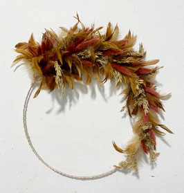 #31 Trockenblumenkranz halbgebunden natur - rostbraun