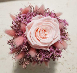 #3 Trockenblumenstrauß klein mit Forever - Rose