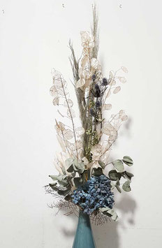 #7 Trockenblumenstrauß blau - grün