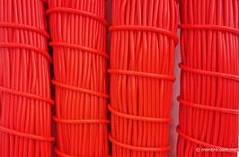 Cordón plástico de PVC rojo de 4.6 mm