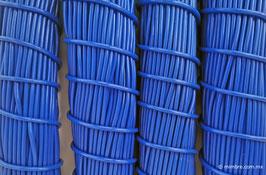 Cordón plástico de PVC azul cobalto de 4.6 mm