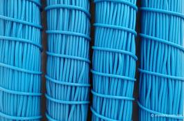 Cordón plástico de PVC azul cielo
