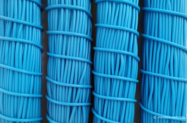 Cordón plástico de PVC azul cielo de 4.6 mm