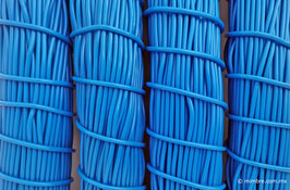 Cordón plástico de PVC azul rey de 4.6 mm