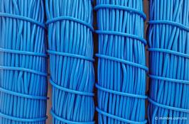 Cordón plástico de PVC azul rey