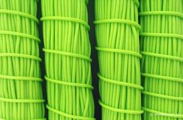 Cordón plástico de PVC verde limón de 4.6 mm