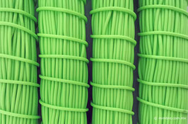 Cordón plástico de PVC verde pistache de 4.6 mm