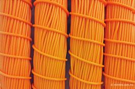 Cordón plástico de PVC naranja de 4.6 mm