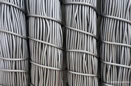 Cordón plástico de PVC gris plata de 4.6 mm