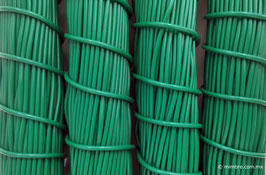 Cordón plástico de PVC verde bandera