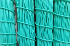 Cordón plástico de PVC verde aqua de 4.6 mm