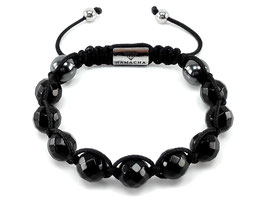 Black Faceted Achat