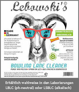 Lebowski's Bowling Lane Cleaner 10 Liter (+ Dosierpumpe bei Erstbestellung).
