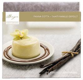 Panna Cotta-Thaiti-Vanille gefüllt 100 G - Panna-Cotta-Creme verfeinert mit edler Thaiti-Vanille in zarter Vollmichschokolade mit 35% Kakaoanteil.