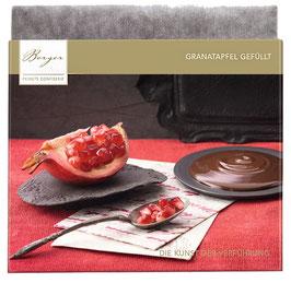 Granatapfel gefüllt 100 G - Feine Edelbitterschokolade mit 70% Kakaoanteil umhüllt eine edle Granatapfel-Creme